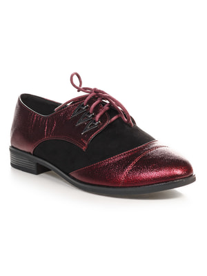 Туфли бордово-черные | 4692834