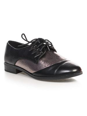Туфли черно-серебристые | 4692833