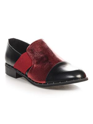 Туфли черно-бордовые   4692838