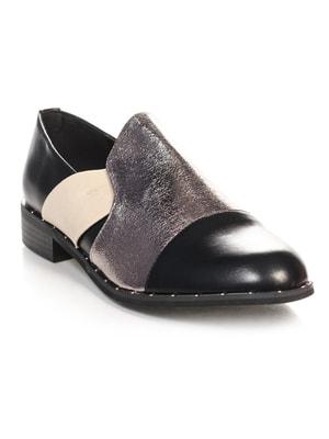 Туфли черно-серебристые | 4692840
