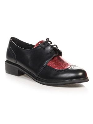 Туфли черно-бордовые | 4692823