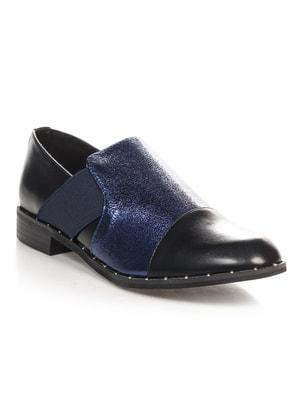 Туфли черно-синие | 4692837