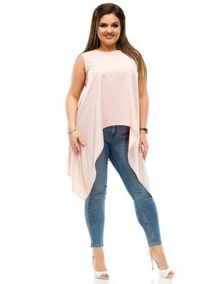 Блуза кольору пудри | 4614090
