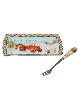 Блюдо с вилочкой (15 см) | 4695939