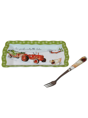 Блюдо с вилочкой (15 см) | 4695940