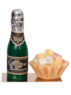 Набор мыла ручной работы «Шампанское с оливье» в пакете (150 г)   4696623