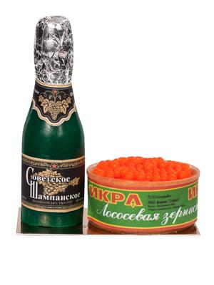 Набор мыла ручной работы «Шампанское с икрой» в пакете (170 г)   4696625