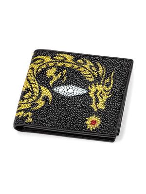 Бумажник черный с принтом | 4696994