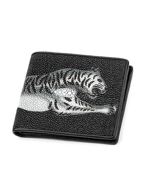 Бумажник черный с принтом | 4696996