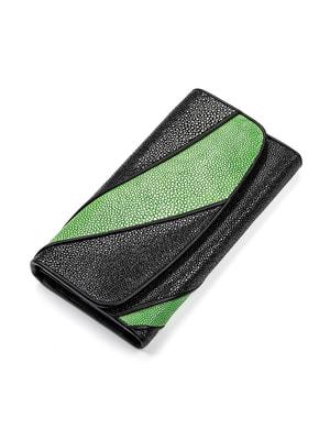 Кошелек черно-зеленый | 4697051