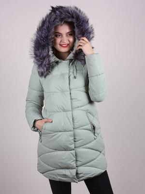 Пальто мятного цвета | 4697631