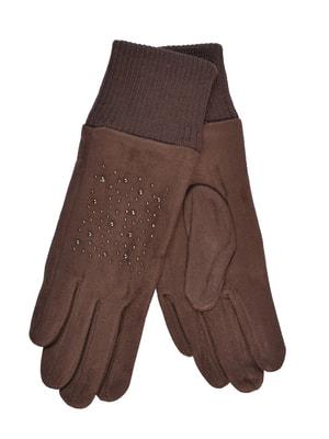 Перчатки коричневые подростковые | 4634490