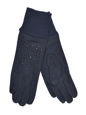 Перчатки темно-синие подростковые | 4634491