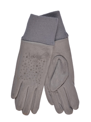 Перчатки серые подростковые | 4634494