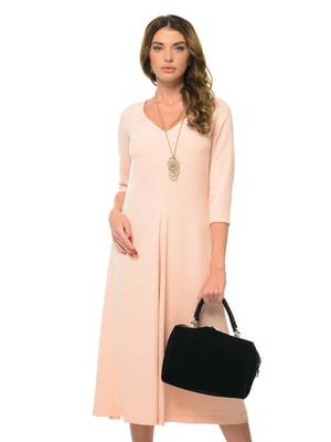 Платье бежево-розовое | 4697230