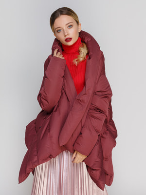 Пальто бордовое | 4670611