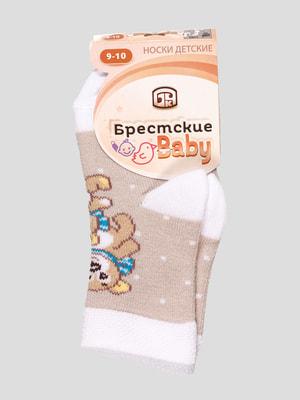 Шкарпетки двокольорові з малюнком | 4663707