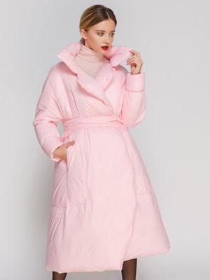 Пуховик-одеяло пудрового цвета | 4670558