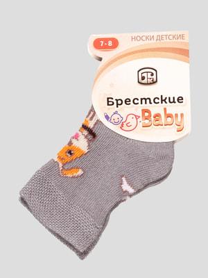 Шкарпетки сірі з малюнком | 4663708