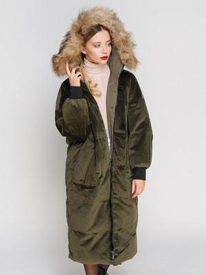 Пальто кольору хакі | 4670565