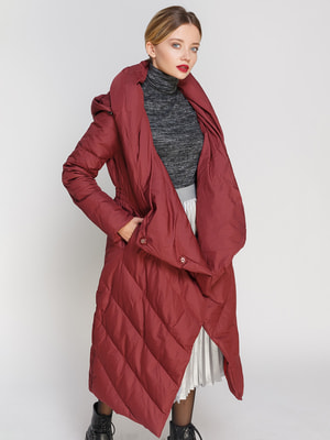 Пальто бордовое | 4670555
