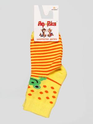 Шкарпетки жовті з малюнком   4448284