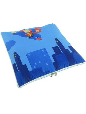 Подушка-ковдра синя   4679166