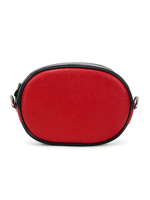 Сумка-клатч чорно-червона поясна   4702484