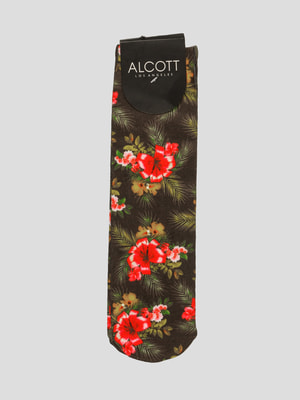Носки в цветочный принт | 4635778