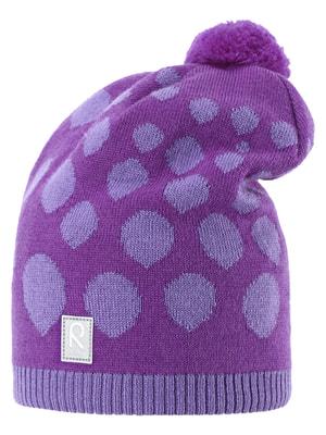 Шапка фиолетовая в принт | 1422411