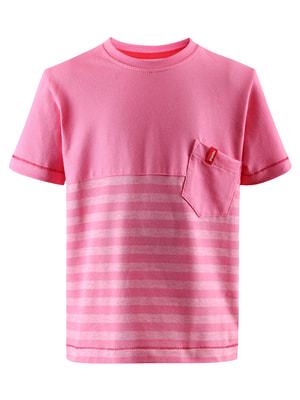 Футболка розовая в полоску | 4706120