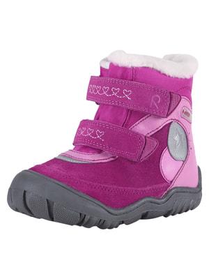 Ботинки малинового цвета | 4706176