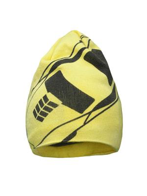Шапка желтая с принтом | 4706205