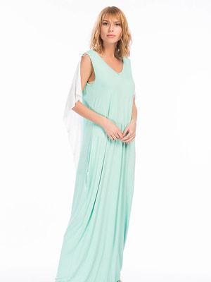 Сукня зелено-біла | 4701537