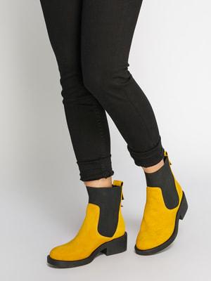 Ботинки желто-черные | 4699870