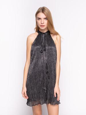 Платье черное декорированное   2783570