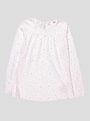 Сорочка нічна біла в принт | 4511235