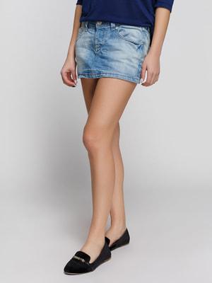 Спідниця синя джинсова | 4090381