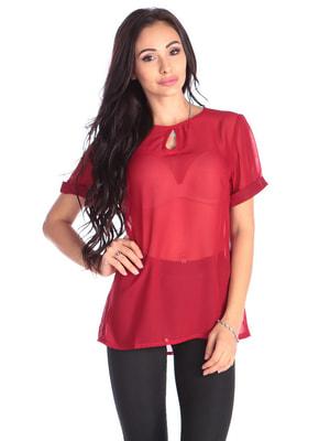 Блуза червона | 4690436
