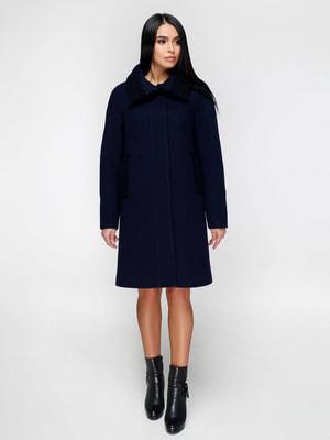 Пальто темно-синє | 4711637