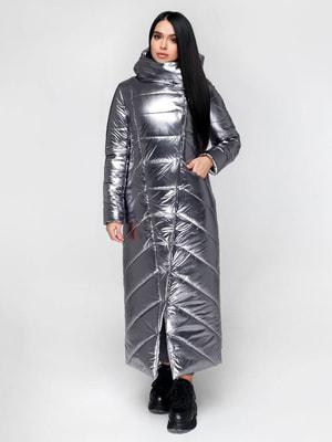 Пальто сріблясте | 4711646