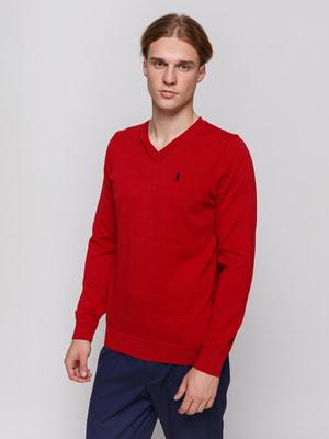 Пуловер бордовый | 4704914