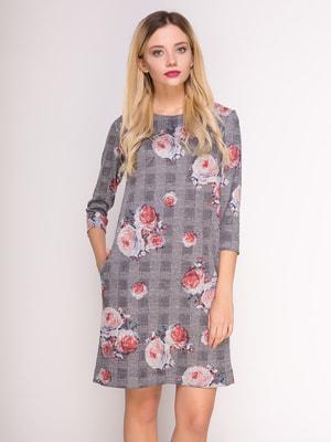 Сукня в комбінований принт | 4711053