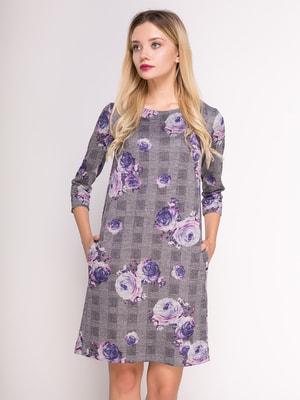 Сукня в комбінований принт | 4711052