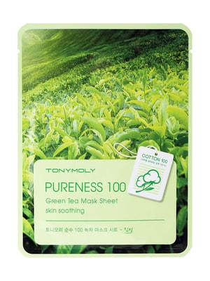 Тканинна маска для обличчя з екстрактом зеленого чаю (21 мл) - Tony Moly - 4708006