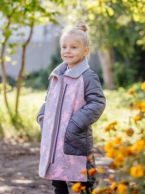 Пальто серо-розовое | 4714896