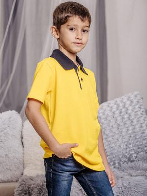 Футболка-поло желтая | 4714898