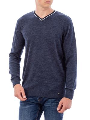 Пуловер синій | 4561178