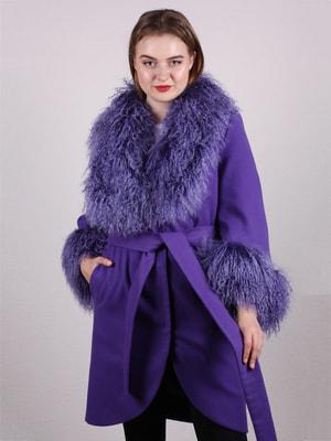 Пальто сиреневое   4715243