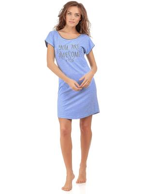 Рубашка ночная голубая | 4715431